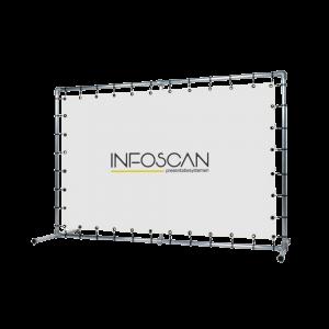 spandoek met frame Infoscan