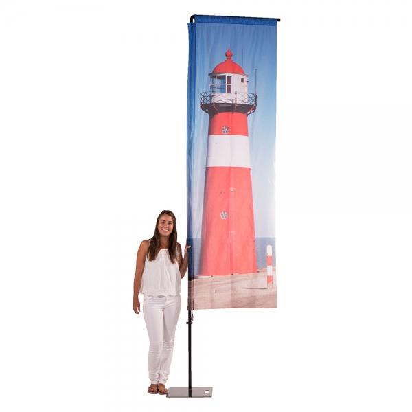 toren op vlag meisje
